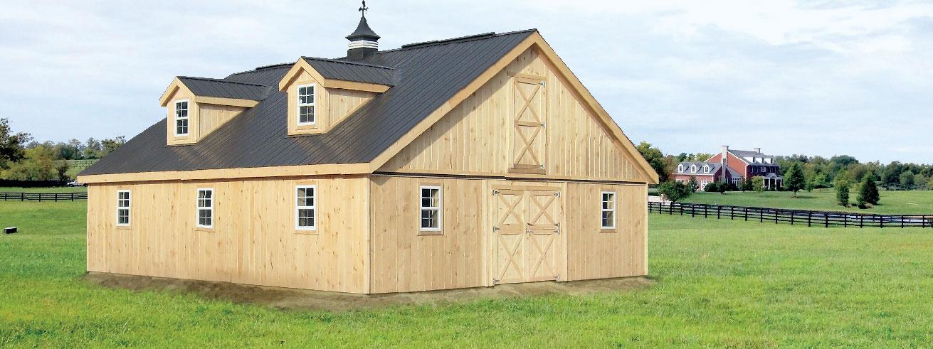 Denco Storage Sheds | Bunkies, Cottages, Modular Horse Barns